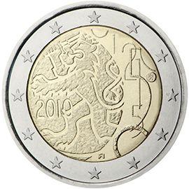 2 Commemorative Coins 2010 Monete Numismatica Banconota