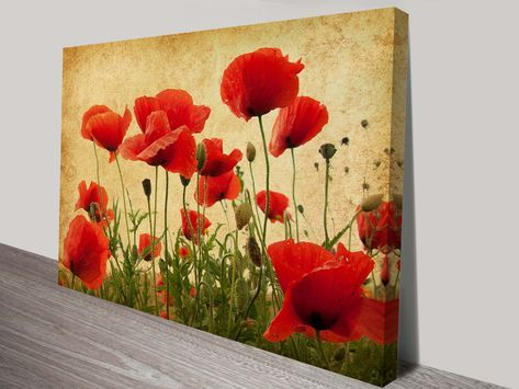 BEAUTIFUL POPPIES PICTURE  STRIKING RED LIFELIKE BLOOMS  CROSS STITCH CHART