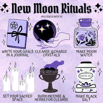 Lunar magic: New Moon Rituals   Ritual Magic Spells