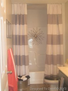 teal striped shower curtain. Striped Shower Curtain  Neutral Bathroom Kids Ideas Boy Girl Double Shower Curtain But In Teal Room Decorating Before And After Makeovers Small Bath