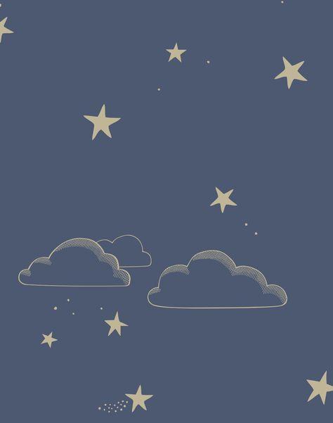 Starry Sky, Indigo/Gold - Roll
