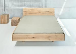 Seemingly Floating Bed Frame Elegant With Slightly Inclined