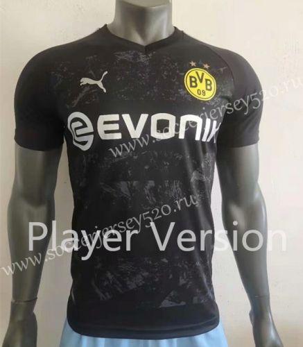 Player Version 2019 2020 Borussia Dortmund Away Black Thailand Soccer Jersey Aaa Soccer Jersey Borussia Dortmund Soccer