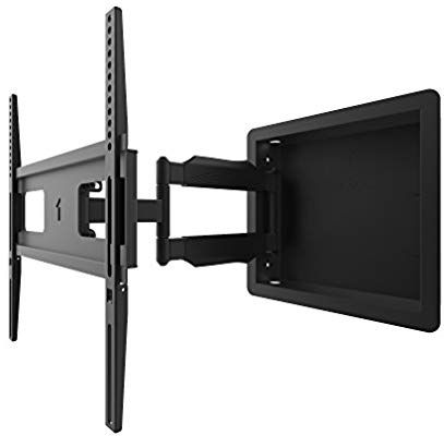 Amazon Com Kanto Recessed In Wall Full Motion Tv Mount For 32 Inch To 55 Inch Tvs Electronics Full Motion Tv Mount Mounted Tv