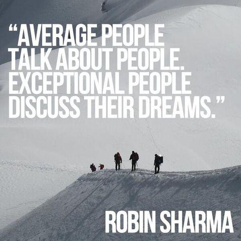 people / dreams Robin Sharma