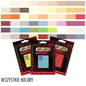 Tester Probka Magnat Ceramic 56 Kolorow Farba Ceramiczna