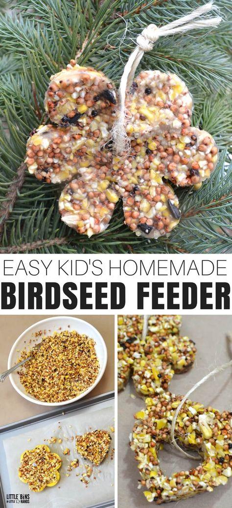 Gelatin Birdseed Feeder Ornaments