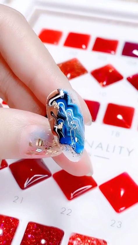 Simple nails art design video Tutorials Compilation Part 120,  #art #Compilation #Design #Nai...