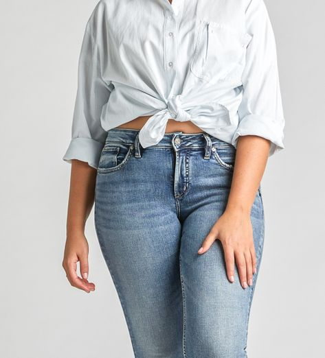 5d574028 Our favorite fit might just be the Avery High-rise curvy skinny jean # SILVERJEANS #WEWEARDENIM #WEFIT