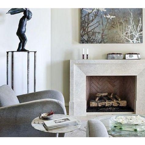 Custom Modena Modern Stone Fireplace Mantel   Francois U0026 Co   Eclectic    Living Room   Atlanta   Francois U0026 Co | Fireplaces | Pinterest | Modern  Stone ...
