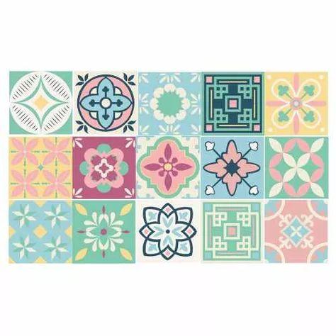 Azulejos Vinilo Calcareos Vintage Decoracion Mosaico Cocina