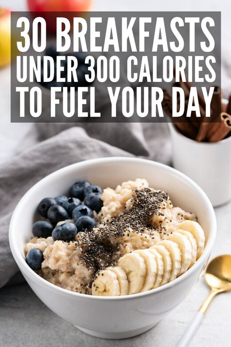 30 Breakfasts Under 300 Calories to Kickstart Your Day 30 Healthy Breakfast Recipes Under 300 Calori Healthy Low Calorie Breakfast, Healthy Breakfast For Weight Loss, Breakfast Calories, Healthy Breakfasts, Healthy Food, Healthy Drinks, Eating Healthy, Breakfast Ideas With Eggs, Healthy Filling Breakfast