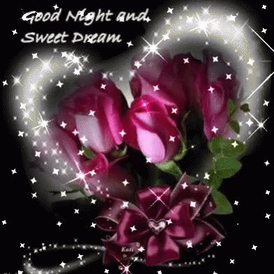 Heart Good Night GIF - Heart GoodNight Rose - Discover & Share GIFs