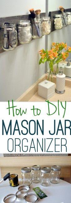 How to Clean the Mason Jar Organizer - DIY Playbook