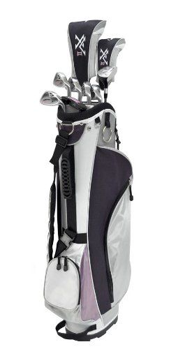GREAT STARTER SET for right handed lady golfers of all players typesTEE IT UP with the graphite-shafted 12.5 degree driverEASY-TO-HIT HYBRID AND PERIMETER WEIGHTED IRONS help the player succeed from the