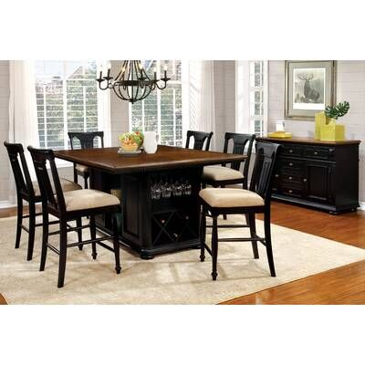 White Cane Outdoor Furniture, Darby Home Co Veasley Counter Height Dining Table Reviews Wayfair In 2020 Dining Table In Kitchen Solid Wood Dining Chairs Solid Wood Dining Set