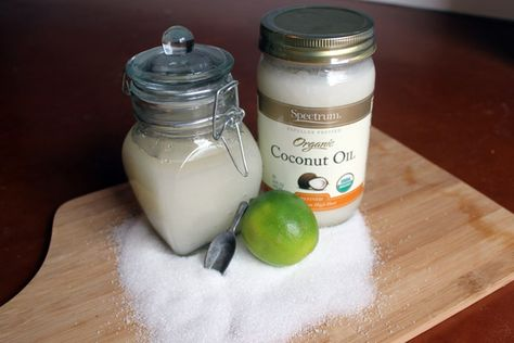 6 DIY Beauty products made from coconut oil - scrub, body butter, lip balm, lip stain, hair mask & deodorant