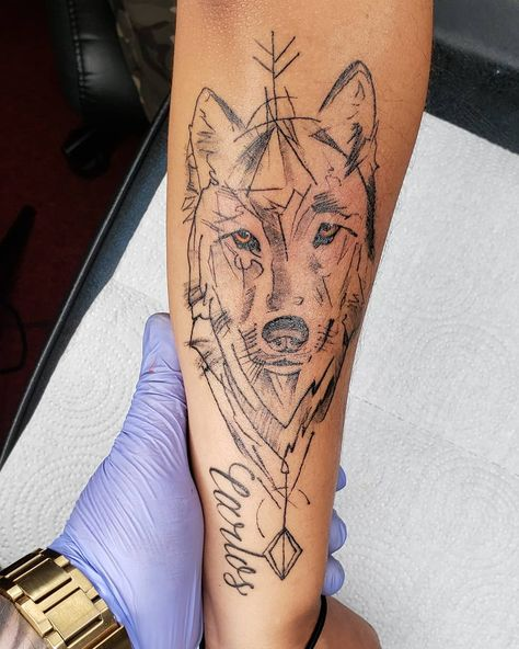 #wolftattoo #wolftattoos #lobotattoo #tattoo #tattoobarber #fkirons  @criticaltattoosupply @eternalink #elizabethnj #tattooapprentice #tattoolovers #tat #tag #tattooist #tattooed #girlswithtattoos #yankees #yankeestattoo #tattooartist #tattooart #tattoolife #tattooing #tattoolove