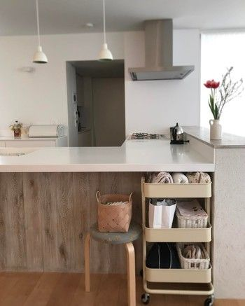色々使える Ikeaのキッチンワゴンが可愛すぎ キナリノ 収納 アイデア キッチンワゴン 模様替え