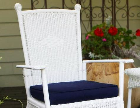 Portside Classic Wicker Rocking Chair Coastal White Creating An Inviting Outdoor Li With Images Wicker Rocking Chair Classic Rocking Chair Outdoor Wicker Rocking Chairs