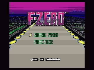 F Zero Snes Title Screen Games Retro Gamer Video Games