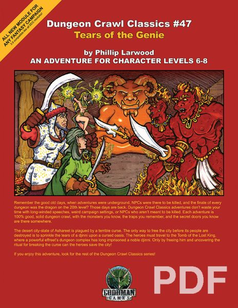 Dungeon Crawl Classics 47 Tears Of The Genie Pdf Dungeon Advanced Dungeons And Dragons Genies