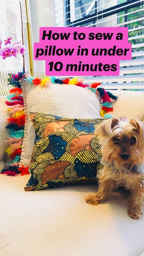 How to sew a pillow in under 10 minutes