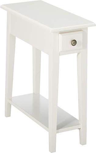 Frenchi Home Furnishing Chair Side Table with Storage Queen