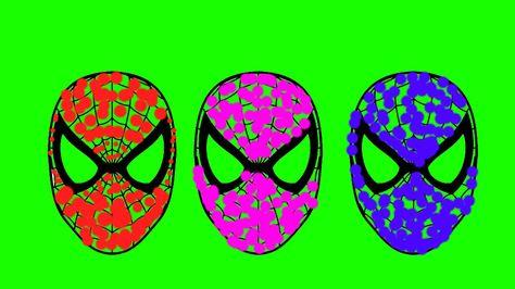 SPIDERMAN COLORS! Yellow, Green, Blue & Black Spiderman Disney Pixar Car...