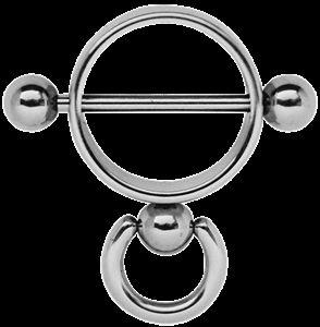 Piercing Schmuck Shop - Brustpiercing Schmuck Stahl - Ring der O