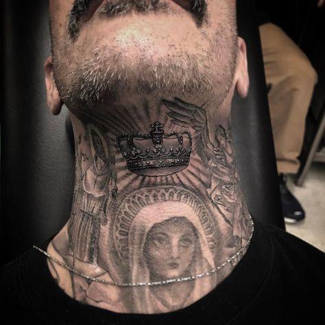 Corona on neck