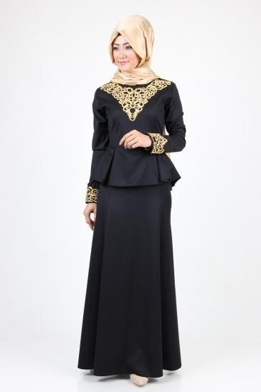 فساتين سواريه للمحجبات بسيطة مودرن شيك ميكساتك Fashion Party Dress Clothes For Women