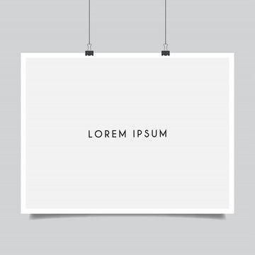 空白海報樣機 Poster Mockup Blank Poster Lorem Ipsum
