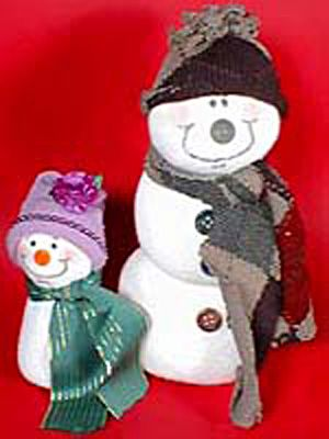 snow man made from a sock great idea