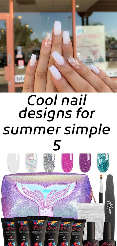 Cool nail designs for summer simple 5