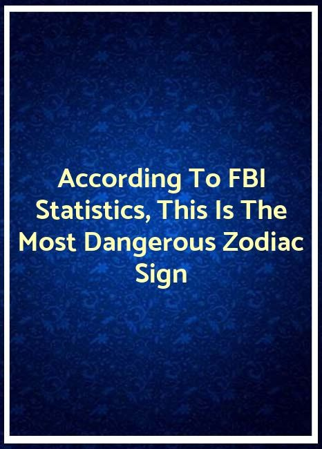 According To FBI Statistics, This Is The Most Dangerous