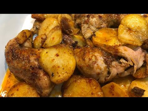 صينية الدجاج مع البطاطا وداعا لرائحة الدجاج وعدم طراوته فعلا بتبله مميزه ولاأطيب دلال حناوي Youtube Food Recipes Chicken