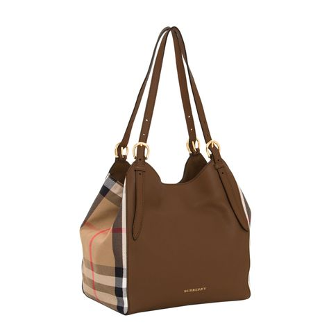 1ceb7d7d5610 Details about Burberry Women s Small Canter and House Check Bag Tan ...