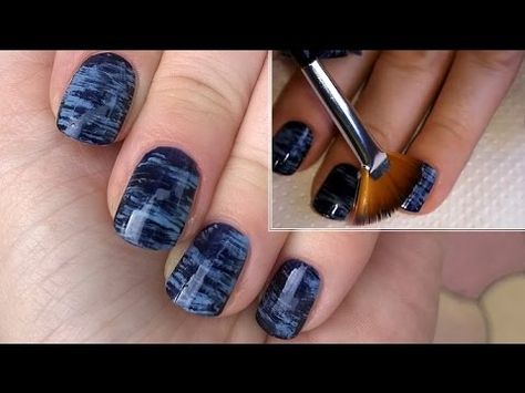 Paint Your Nails With Multi Effect Fan Brush - DIY Easy Striped Nail Art For Beginners #1 - YouTube