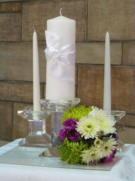 Unity nosegay flowers that can be set next to a unity candle or sand ceremony