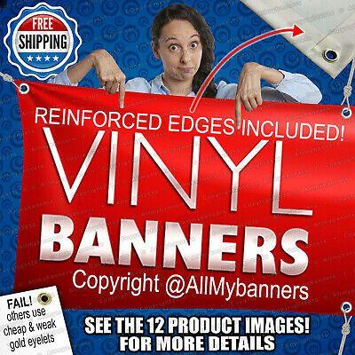 Free Design Included 3 x 10 Custom Vinyl Banner 13oz Full Color