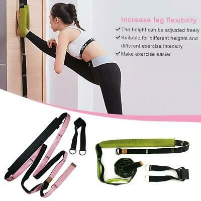Yoga Ballet Stretch Band Leg Door Stretching Strap Dance Home Exercise Foot