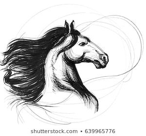 Horse Tattoo Images Stock Photos Vectors Shutterstock Horse Tattoo Horse Drawings Tattoo Images