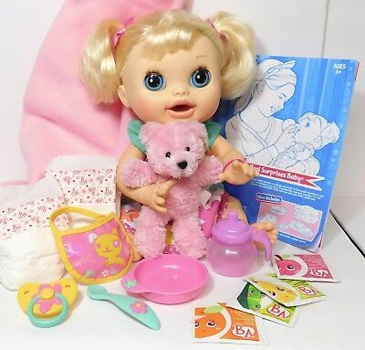 2012 Baby Alive Blonde Real Surprises Doll Magnetic Bottle Pacifier Complete 220 95 Picclick Ca Baby Alive Best Baby Doll Baby Alive Food