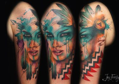 Featured Tattoo Artist Jay Freestyle Tattoos Girls With Sleeve Tattoos Abstract Tattoo Designs
