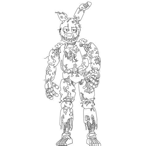 Springtrap Fnaf 6 Coloring Pages Coloring Pages Spring Coloring Pages Coloring Pages To Print