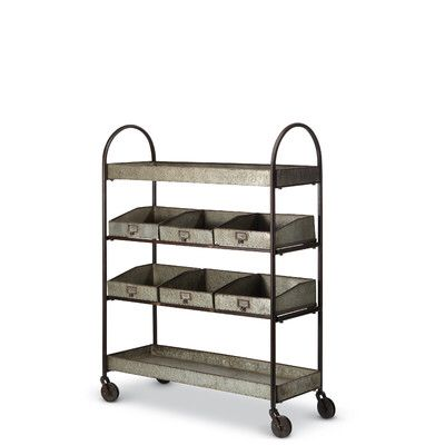 Galvanized Shelving Bar Cart Shelves Vintage Bar Carts Bar Cart