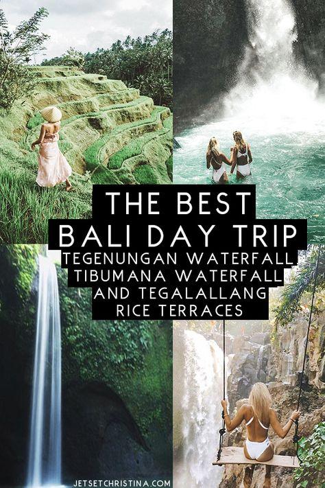 The Best Bali Day Trip: Exploring Tegenungan Waterfall, Tibumana Waterfall, and Tegalallang Rice Terraces outside of #Ubud.