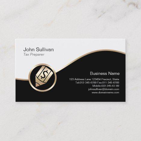 Gold Pen Dollar Icon Tax Preparer Business Card Zazzle Com Tax Preparation Gold Pen Business Cards