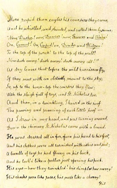 Clement C Moore Original Manuscript A Visit From St Nicholas Page 2 Twas The Night Before Christmas W The Night Before Christmas Twas The Night Moore
